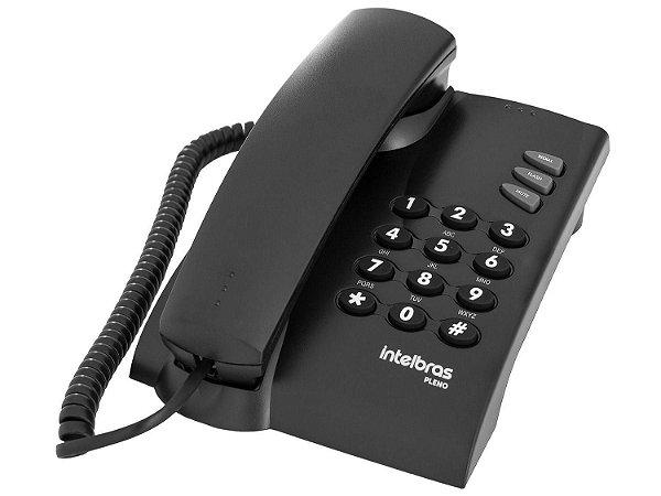 Aparelho Telefônico Fixo Com Fio - Intelbras Pleno Preto