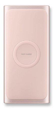 Carregador Samsung 10000mah - Power Bank, Fast Charge, Indução - Rose