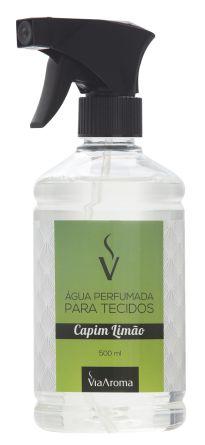 Água Perfumada para Tecidos Via Aroma 500 ml - Capim Limão