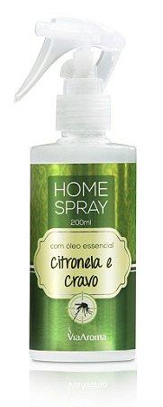 Home Spray Via Aroma 200 ml / Citronela e Cravo