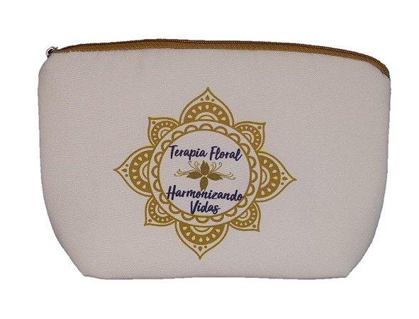Bolsa Protege - Para Guardar Cosméticos Naturais - Terapia Floral (Mandala marron)