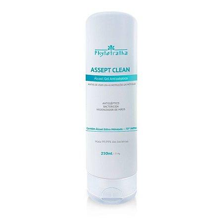 Álcool Gel Antisséptico 70% - Assept Clean 250ml - Phytotratha