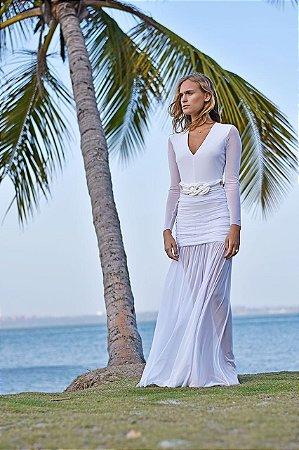 Vestido Aline Liso Branco