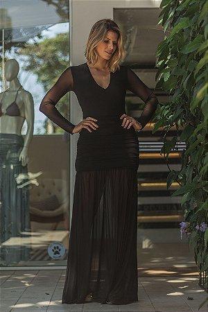 Vestido Aline Liso Preto
