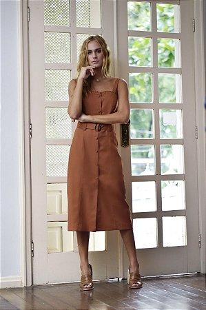Vestido Taylor Marrom