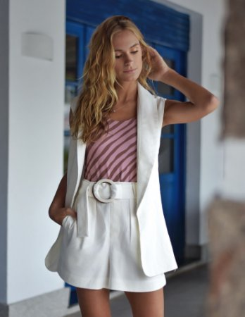 Colete Playa Off / White
