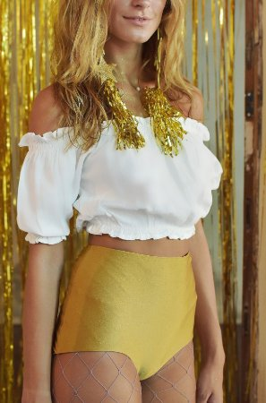 Hot Pant Vintage Ouro