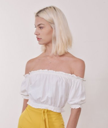 Cropped Diamantina Off White