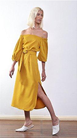 Vestido Midi Leblon Açafrão
