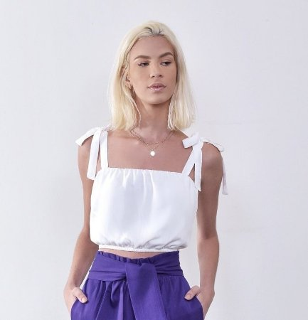 Cropped Mirage Off White