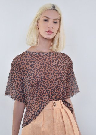 T-Shirt Tule Lince Onça Brown