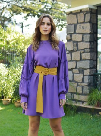 Vestido Butterfly Violeta sem Cinto