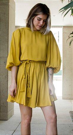 Vestido Gardênia Açafrão