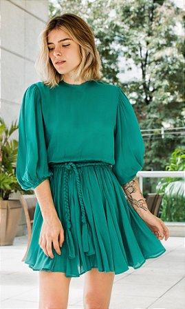 Vestido Gardênia Verde Floresta