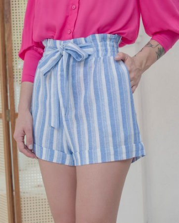 Short Clochard Cintra Azul/Off
