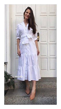 Vestido Castanha Branco