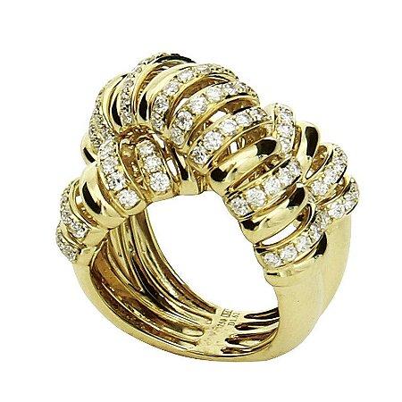 Anel em Ouro  c/ Diamantes  -  cod 01014157