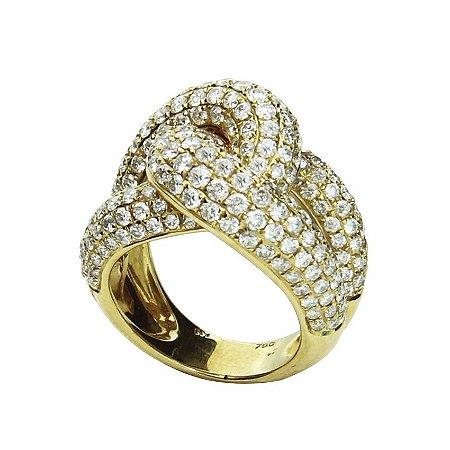 Anel em Ouro  c/ Diamantes   -   cod 01045737