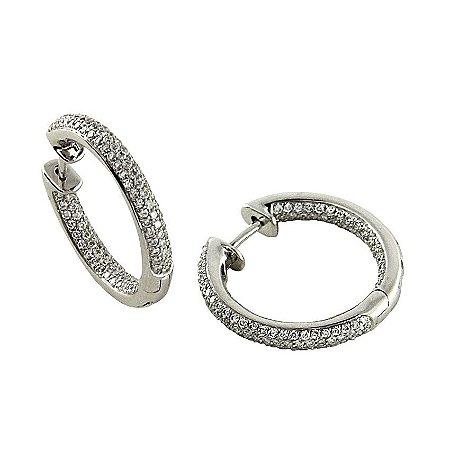 Brinco em Ouro  c/ Diamantes  -  cod 02045885