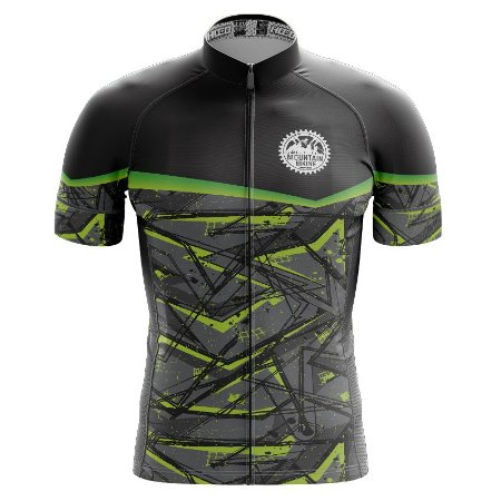 Camisa de Ciclismo Pró Race - Abstract Cinza