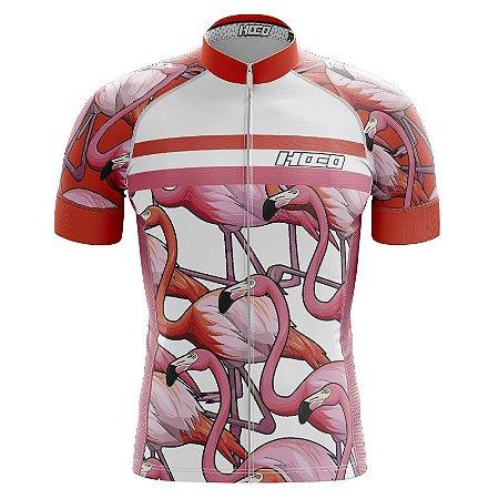 Camisa de Ciclismo Pró Race - Flamingos