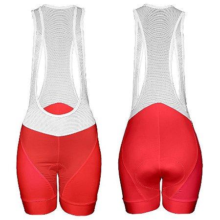 Bretelle de Ciclismo Feminino Sport - Vermelho