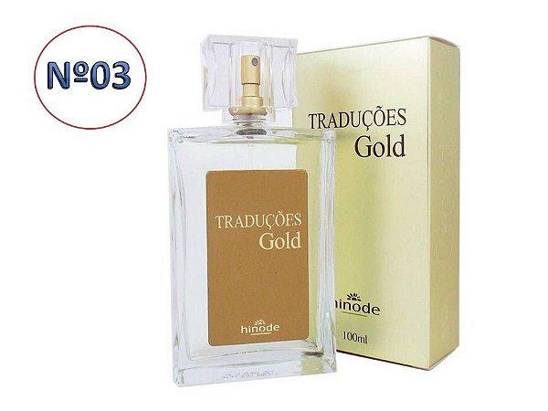 Perfume Traduções Gold Masculino nº 3 100ml  HINODE