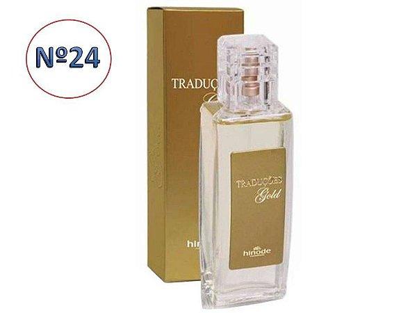 Perfume Traduções Gold nº 24 Feminino   Hinode 100 ml