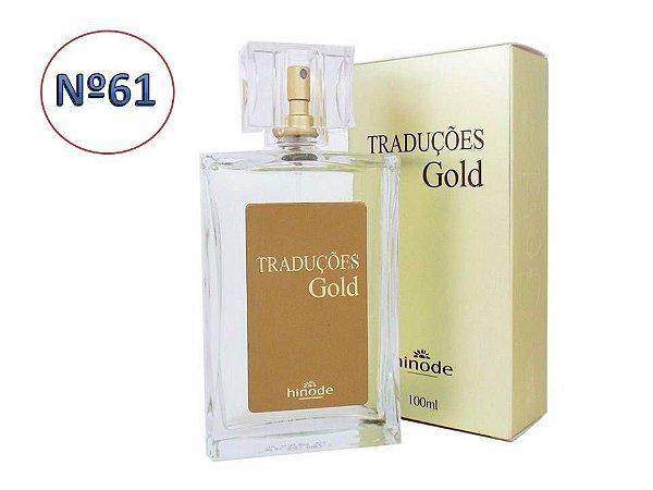 Perfume Traduções Gold Nº 61 Masculino    HINODE 100 ml