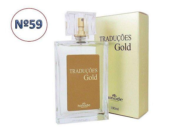 Perfume Traduções Gold Nº 59  Masculino  HINODE 100ml
