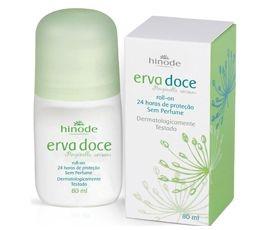 Desodorante Antitranspirante Roll on Erva Doce SEM PERFUME HINODE  80ml