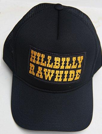 Boné Hillbilly Rawhide Logo Amarelo