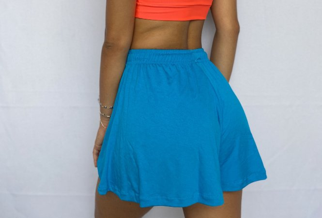 Short Saia Azul