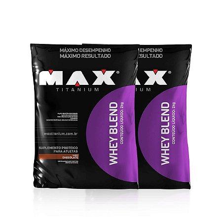 Combo 2 Whey Blend Refil 2kg - Max Titanium