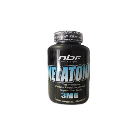 Melatonina 3mg 100caps - nbf Nutrition