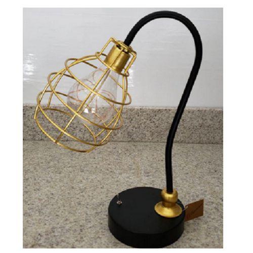 Luminária Decorativa Preto Com Dourado