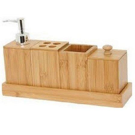 Kit Banheiro em Bambu Eco 5 pçs