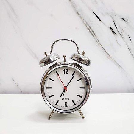 Relógio de Mesa  Prata