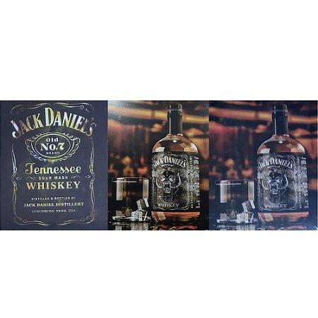 3 Quadros Cartão MDF Jack Daniel's