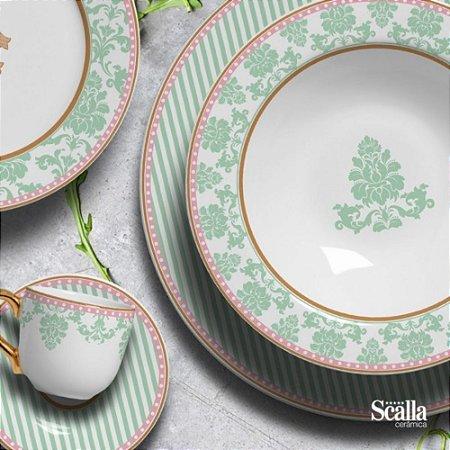 Aparelho de Jantar 30 Peças Retomesk Scalla Cerâmica