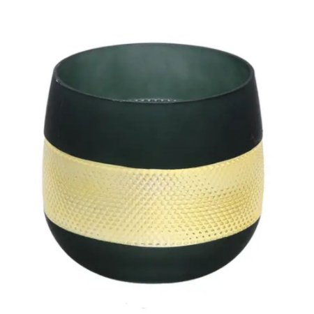 Vaso Decorativo Verde Baixo Mabruk