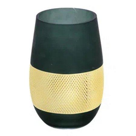 Vaso Decorativo Verde Alto Mabruk