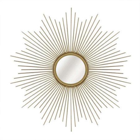 Espelho Dourado Metal Moas