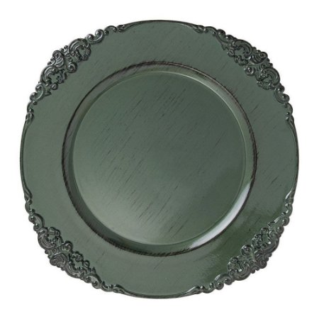 Sousplat Galles Barroco Green Antique Verde Copa&Cia