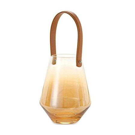 Lanterna de Cor Champanhe em Vidro