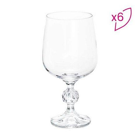 Jogo De Taças Para Vinho Tinto Klaudie Sterna - Cristal - 6Pçs - 230ml