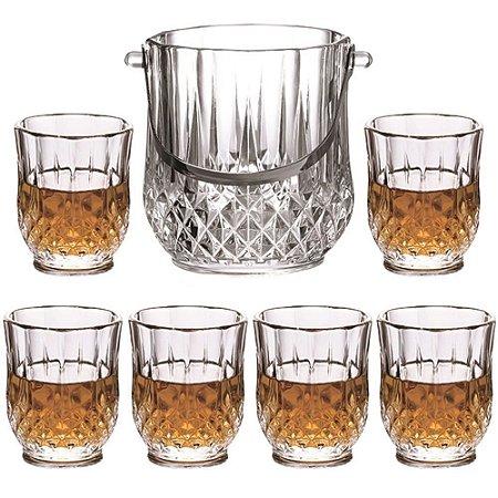 Jogo 7 Peças Para Whisky Margot