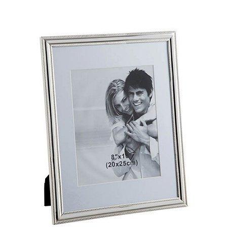 Porta Retrato Strip Prata home Collection