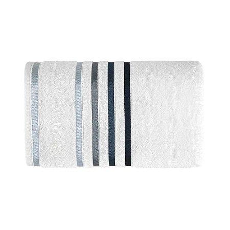 Toalha Banho Branco / Cinza Claro Lumina Karsten