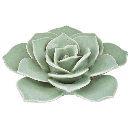 Flor Verde Claro Cerâmica